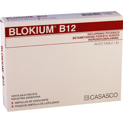 ბლოკიუმ B-12 ი/მ ლიოფილიზატი საინექციო ხსნარის მოსამზადებლად 75მგ+2მგ+10მგ ფლაკონი+გამხსნელი 3მლ #5