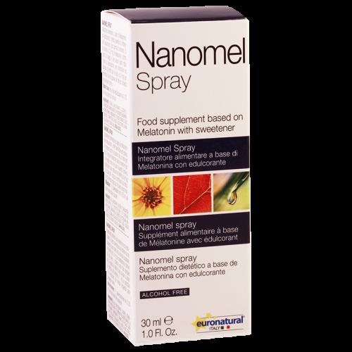 ნანომელი-მელატონინი სპრეი სუბლინგვალური 0.5მგ 30მლ ფლაკონი #1