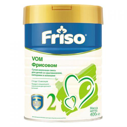 ფრისო - 2 ვომ ანტირეფლუქსი ადაპტირებული რძე /6-12თვ/ 400გრ 6567/4340/7251/0051