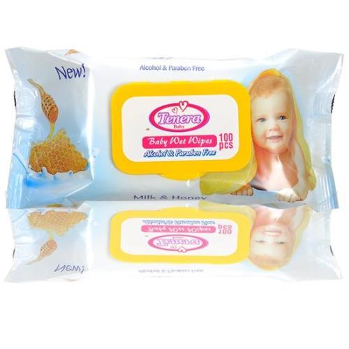 ტენერა-სვ. ხელსახოცი ბავშვის რძე და თაფლით 1054/1030 #100